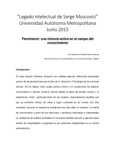 Feminismo: una minoría activa en el campo del conocimiento / Fátima Flores Palacios.