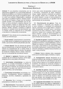 Lineamientos Generales para la Igualdad de Género en la UNAM.