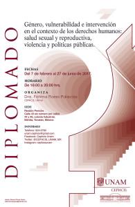 """Diplomado """"Género, vulnerabilidad e intervención en el contexto de los derechos humanos: Salud sexual y reproductiva, Violencia y Políticas Públicas"""""""
