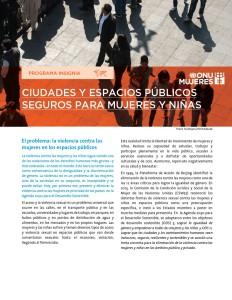 Ciudades y espacios públicos seguros para mujeres y niñas.