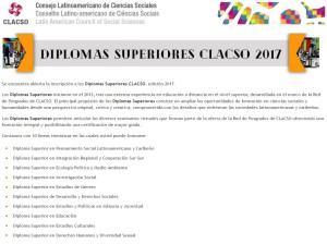 Diplomas Superiores CLACSO: Diploma Superior en Estudios de Género.