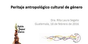 Ponencia: Peritaje antropológico cultural de género.