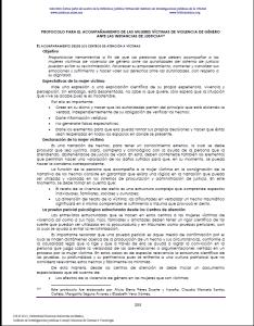 Protocolo para el acompañamiento de las mujeres víctimas de violencia de género ante las instancias de la justicia.
