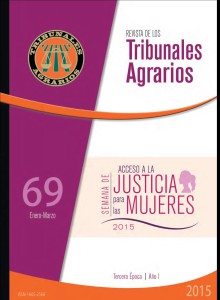 Revista de los tribunales agrarios. Acceso a la justicia para las mujeres.