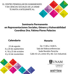 Seminario Representaciones Sociales, Género y Vulnerabilidad.