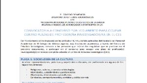 Convocatoria: Colegio de México para especialistas en estudios de género